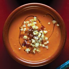 Salmorejo, gazpacho's richer, deeper cousin, is a cool and creamy tomato soup – often topped with egg and jamón ibérico – that transcends seasonality.