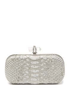 Lily Python Box Clutch from Perfect Finishing Touches on Gilt