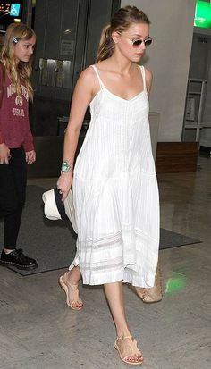 amber heard. perfect summer outfit.