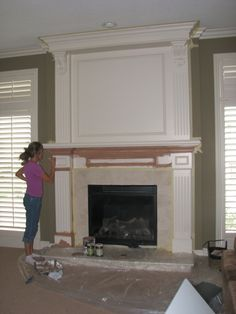 Brick fireplace makeover: before, during, after | Fireplace ...