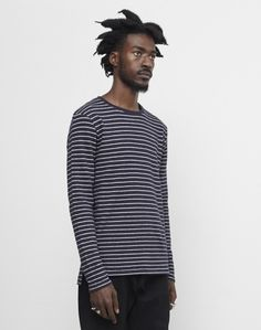 The Idle Man Striped Long Sleeve Jumper Navy #StyleMadeEasy