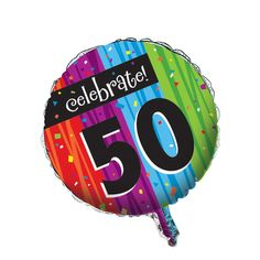 Metallic Balloon 50th Milestone Celebrations/Case of 12
