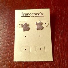 Francesca's Texas stud earrings Brand new silver state of TX stud earrings. Absolutely adorable! I just already have a pair :) BUNDLE for more discounts! Francesca's Collections Jewelry Earrings