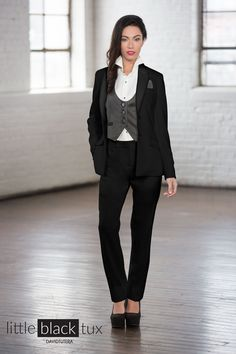 Women's Black Tuxedo by David Tutera