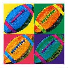Andy Warhol lesson idea - you could also do this with other sport equipment depending on the country eg soccer ball