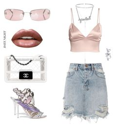 """~ v. casual date, don't expect a kiss~"" by looksbydevi ❤ liked on Polyvore featuring Ksubi, Huda Beauty, Suzanne Kalan, Chanel, Sophia Webster and DateNight"