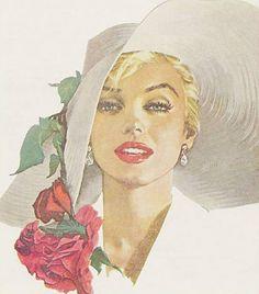 Marilyn Monroe portrait. Artist Unknown.   This image first pinned to Marilyn Monroe Art board, here: http://pinterest.com/fairbanksgrafix/marilyn-monroe-art/    #Art #MarilynMonroe