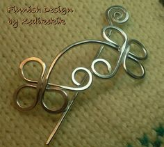 Unique CELTIC Brooch, Hair Pin or Shawl Pin For Scarf made with Aluminum Wire - Very light to wear - A Beautiful CHRISTMAS/HOLIDAY Gift. $15.00, via Etsy.