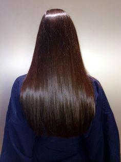 Healthy, shiny hair.