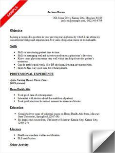 entry level nurse aide resume - Nurse Aide Resume Examples