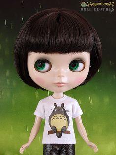 Blythe+doll+custom+order+Totoro+T+shirt