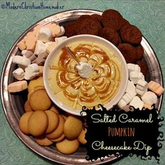 Salted Caramel Pumpkin Cheesecake Dip