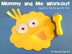 Mommy and Me Workout for Healthy Heart Fun inspired by Big Bird and Let's Move created by The Educators'  Spin On It