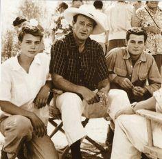 John Wayne with sons Patrick and Michael