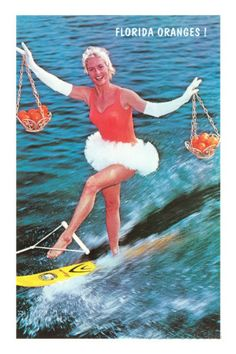 Water Skier with Florida Oranges Photo at AllPosters.com