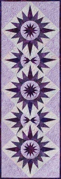 Cactus Table Runner ~ Purple