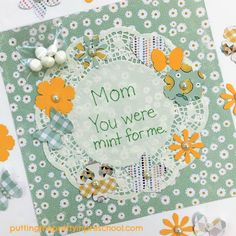 Mother's Day craft using scrapbook supplies suitable for all ages. A crafting project guaranteed to make any mother or grandmother feel special. Flower Activities For Kids, Mother's Day Activities, Scrapbook Supplies, Scrapbook Paper, Keepsake Crafts, Complimentary Colors, Mothers Day Crafts, Sticker Paper, Flower Crafts