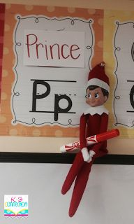 Elf on the Shelf in the classroom ideas