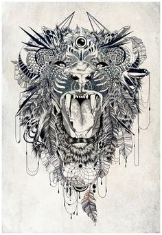 Lion Art Print by Feline Zegers