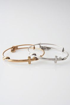 Cross Wrap Expandable Wired Bangle in Russian Gold or Russian Silver by Alex and Ani at TAGS.COM