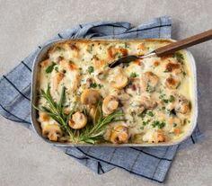Reseptit | Champ Portobello, Veggie Dishes, Champs, Cheeseburger Chowder, Quiche, Veggies, Soup, Pasta, Meat
