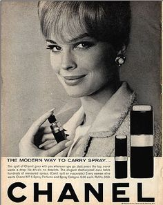 Vintage Chanel ad circa 1966 with Candace Bergen