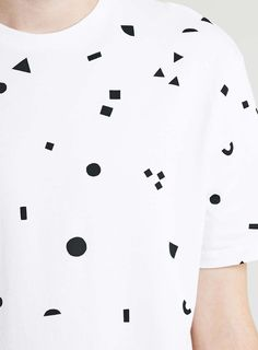 White/Black Classic T-Shirt