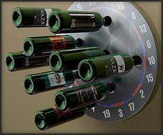 Dartboard wine rack