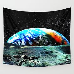 Mother Earth Wall Tapestry by azima Wall Tapestries, Tapestry, Face Design, Mother Earth, Vivid Colors, Printmaking, Duvet Covers, Throw Pillows, Art Prints