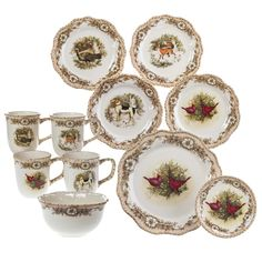 Cheapest Furniture Market In Kolkata Product Christmas Dinner Plates, Christmas Dinnerware, Christmas Crackers, Christmas Stuff, Dinning Set, Old Country Stores, Woodland Christmas, Grand Homes, Dinnerware Sets
