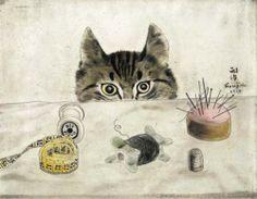 ¤ Couturier Cat 1927 - Tsuguharu Foujita