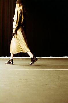 The pleated skirt!