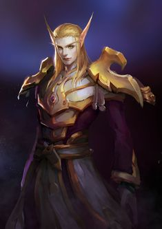 Sin'dorei by xingchen0329 World Of Warcraft Game, World Of Warcraft Characters, Warcraft Art, Fantasy Characters, Fantasy Races, High Fantasy, Fantasy Rpg, Medieval Fantasy, Character Inspiration