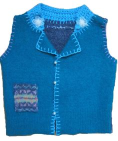 HAND MADE ORIGINAL Design Sweater Vest (Ages 6-12 Months) - For SALE $25.00 - For payment details send email at artwork@ZubArt.net