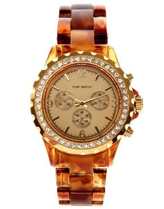 River Island | River Island Brown Tortoise Watch at ASOS