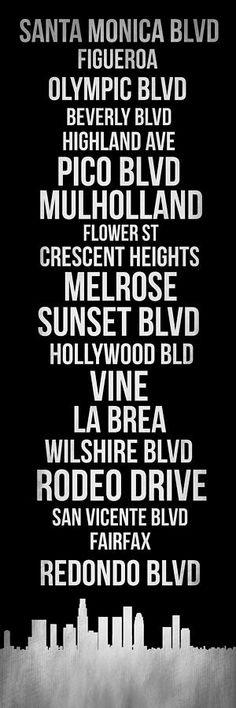 Streets Of Los Angeles 2 Digital Art