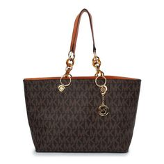 Michael Kors Ring Logo Signature Large Tote