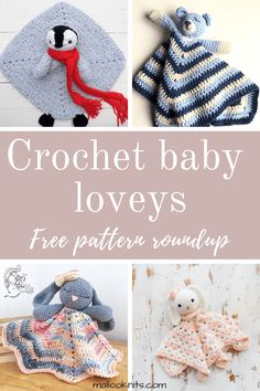Most recent Pics Crochet baby gifts Concepts Crochet baby loveys free pattern roundup. This is day 4 of the 7 days of freebies series. Crochet Gratis, Crochet Amigurumi, Crochet Toys, Free Crochet, Crochet Lovey Free Pattern, Crochet Birds, Crochet Bear, Knitted Dolls, Crochet Animals