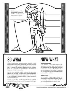 Ready For Action Ephesians 6 Activity Sheet About The Armor Of God