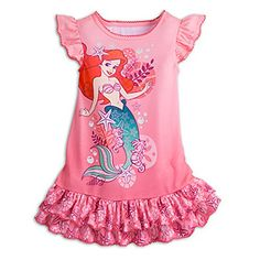 Disney Store Coral Ariel Mermaid Nightshirt for Girls Teen Girl Fashion, Little Girl Fashion, Little Girl Dresses, Disney Babys, Disney Girls, Disney Princess, Toddler Girl Outfits, Outfits For Teens, Mode Für Teenies