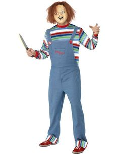 Chucky and Tiffany Halloween costumes. Do you need the perfect idea for a couples Halloween costume set? How about Chucky and Tiffany Halloween costumes? Chucky Halloween Costume Toddler, Chucky And Tiffany Costume, Fete Halloween, Halloween Doll, Halloween Fancy Dress, Couple Halloween Costumes, Adult Halloween, Halloween Horror, Group Costumes