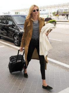 Model off-duty style: 9 airport outfit ideas to try from Anja Rubik and more