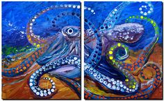 Out of PaintCo Pus  Abstract Fish Art Artwork Paintings J Vincent Scarpace
