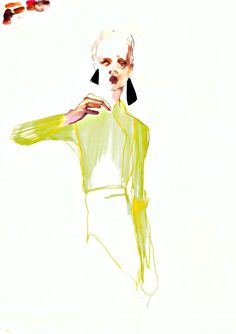 Look 32 by Rob Phillips guest illustrator @SHOWstudio