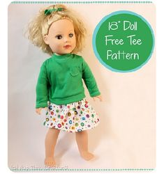 free patterns for sewing | Free pattern: Long-sleeved tee for an 18″ doll | Sewing ...