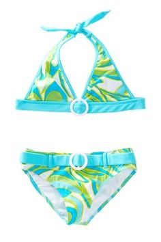 Azul Happy Spring Halter Bikini (Baby, Little Girls