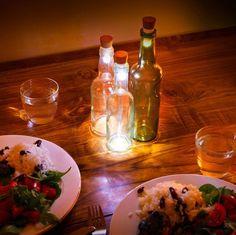 DIY: Verander je oude wijn- en drankflessen in awesome lampjes