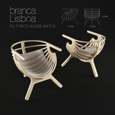 shell lounge chair branca lisboa 3d model