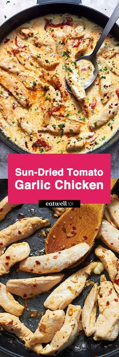 These chicken tenders asked us to be thrown in a skillet with plenty of garlic and sun-dried tomatoes, so, we did just that! Garnish with mozzarella, chili pepper flakes and basil and you obtain a …