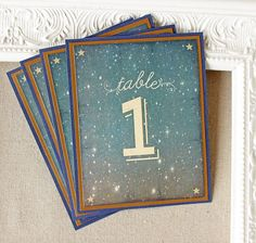 Starry Night Wedding Reception Table Numbers by SunshineandRavioli
